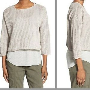 The Fisher Project Bateau Neck Box Top Sweater